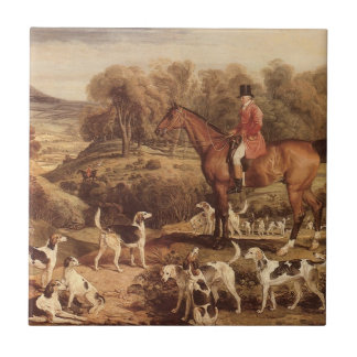 Ralph Lambton and his Hounds by James Ward Ceramic Tile