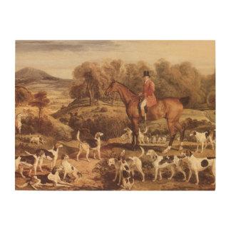 Ralph Lambton and his Hounds by James Ward Wood Print