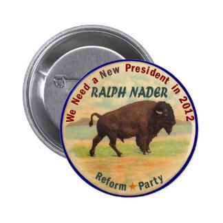 Ralph Nader 2012 Pinback Button