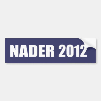 RALPH NADER Election Gear Bumper Sticker