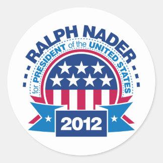 Ralph Nader for President 2012 Classic Round Sticker
