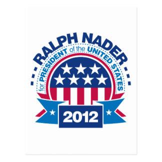 Ralph Nader para el presidente 2012 Postal