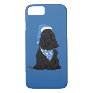 new concept e1666 b99c0 Ralph The Cocker Spaniel with Blue Fish Bandana iPhone 8/7 Case