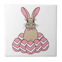 Ralph the Rabbit Easter Bunny Tile