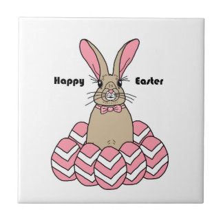 Ralph the Rabbit Happy Easter Tile
