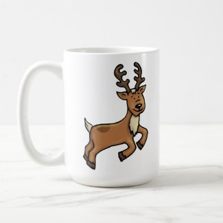 Ralph the Reindeer and Ernie the Elf Christmas Mug
