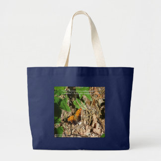 "Ralph W Emerson ""Pace Of Nature"" Wisdom Quote Gift Large Tote Bag"