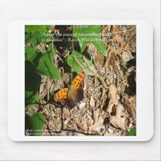 """Ralph W Emerson """"Pace Of Nature"""" Wisdom Quote Gift Mouse Pad"""