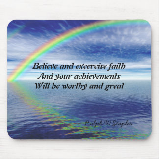 Ralph W Staples Quotations-excercise faith Mouse Pad