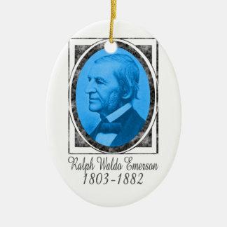 Ralph Waldo Emerson Ceramic Ornament