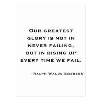 Ralph Waldo Emerson - cita de la motivación Postales
