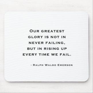 Ralph Waldo Emerson - cita de la motivación Tapete De Ratón