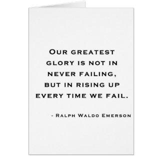 Ralph Waldo Emerson - cita de la motivación Tarjetón