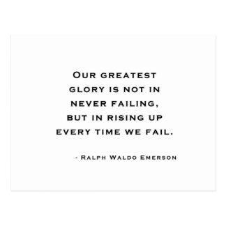 Ralph Waldo Emerson - cita de la motivación Postal