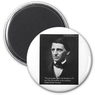 "Ralph Waldo Emerson ""Common Wisdom"" Quote Gifts 2 Inch Round Magnet"
