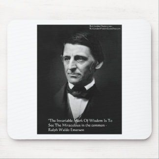 """Ralph Waldo Emerson """"Common Wisdom"""" Quote Gifts Mouse Pads"""