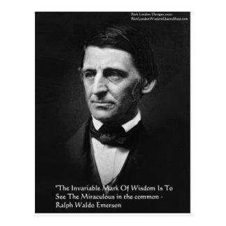 """Ralph Waldo Emerson """"Common Wisdom"""" Quote Gifts Postcard"""