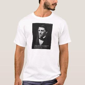 "Ralph Waldo Emerson ""Common Wisdom"" Quote Gifts T-Shirt"