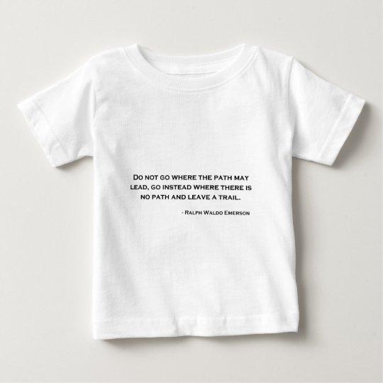 Ralph Waldo Emerson Innovation Quote Baby T-Shirt