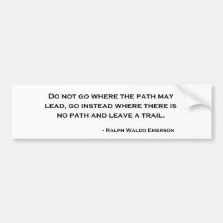 Ralph Waldo Emerson Innovation Quote Car Bumper Sticker