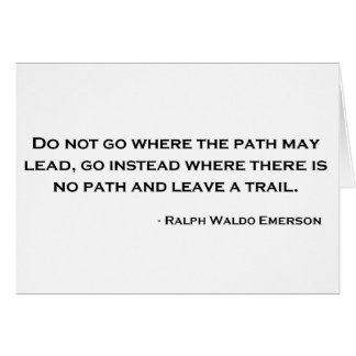 Ralph Waldo Emerson Innovation Quote Card