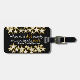 Ralph Waldo Emerson Inspirational Life Quotes Gift Travel Bag Tag