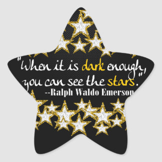 Ralph Waldo Emerson Inspirational Life Quotes Gift Star Sticker
