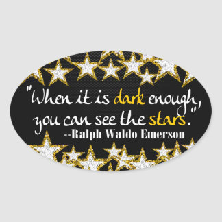 Ralph Waldo Emerson Inspirational Life Quotes Gift Oval Sticker