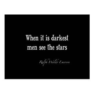 Ralph Waldo Emerson Inspirational Quote Darkest Postcard