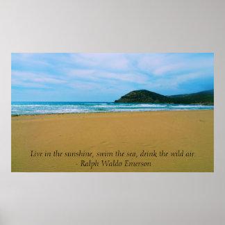 Ralph Waldo Emerson inspirational quote POSTER