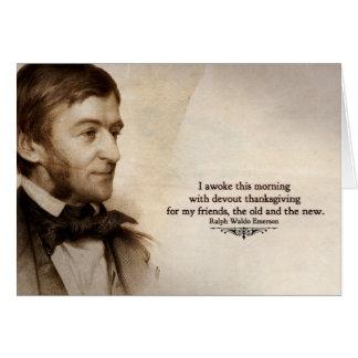 Ralph Waldo Emerson le agradece cardar Tarjeta Pequeña