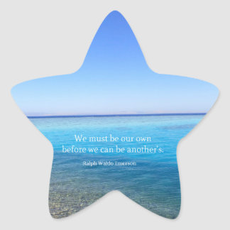 Ralph Waldo Emerson love quote Star Sticker