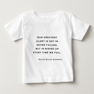 Ralph Waldo Emerson - Motivation Quote Baby T-Shirt
