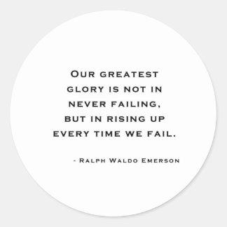 Ralph Waldo Emerson - Motivation Quote Classic Round Sticker