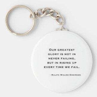 Ralph Waldo Emerson - Motivation Quote Keychain