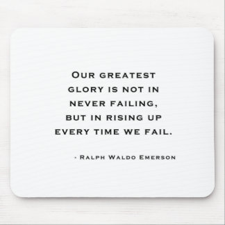 Ralph Waldo Emerson - Motivation Quote Mouse Pad