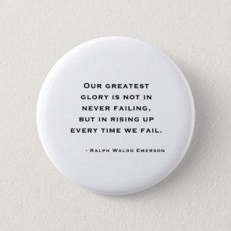 Ralph Waldo Emerson - Motivation Quote Pinback Button