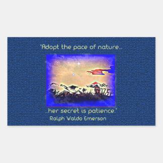 Ralph Waldo Emerson nature quote stickers