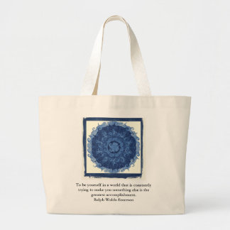Ralph Waldo Emerson QUOTATION  inspirational Tote Bags