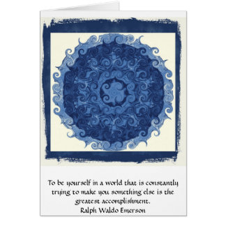 Ralph Waldo Emerson QUOTATION  inspirational Card
