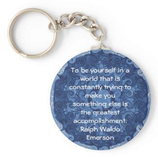 Ralph Waldo Emerson QUOTATION  inspirational Keychain