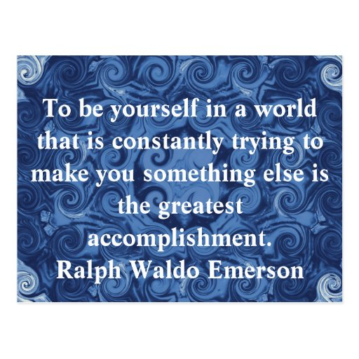 Ralph Waldo Emerson QUOTATION  inspirational Postcards