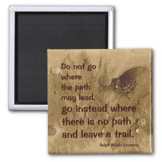 Ralph Waldo Emerson quote 2 Inch Square Magnet