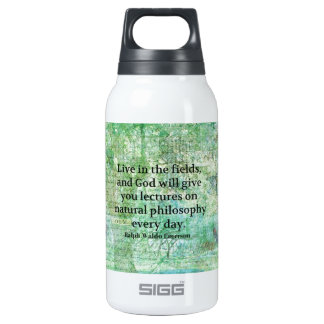 Ralph Waldo Emerson quote about God and Nature 10 Oz Insulated SIGG Thermos Water Bottle