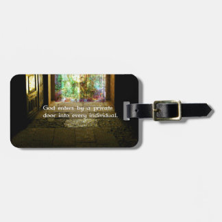 Ralph Waldo Emerson quote about GOD Tags For Luggage