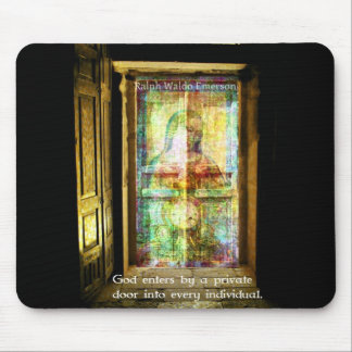Ralph Waldo Emerson quote about GOD Mouse Pad
