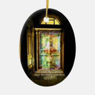 Ralph Waldo Emerson quote about GOD Christmas Tree Ornament