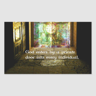 Ralph Waldo Emerson quote about GOD Stickers
