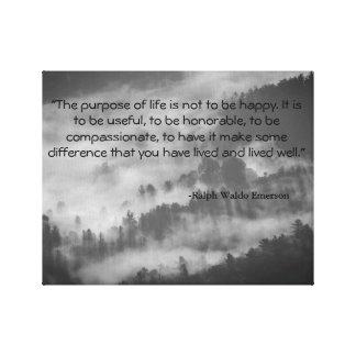 Ralph Waldo Emerson Quote Canvas Art Black & White