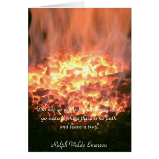 Ralph Waldo Emerson Quote - Greeting Card
